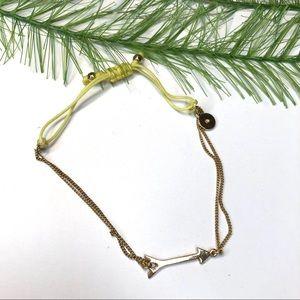 Stella and dot jewelry, arrow gold tone bracelet